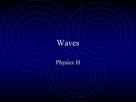 Waves Physics H.
