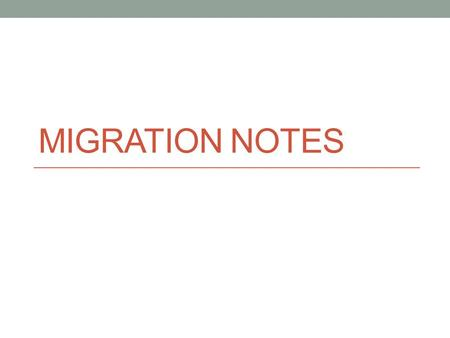 Migration Notes.