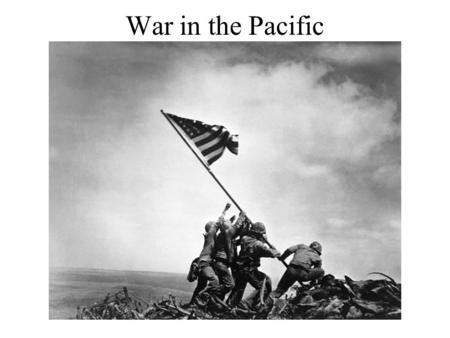 War in the Pacific. I) Roosevelt's Respons to Japanese Aggression A) Diplomatic negotiations B) Freeze Japanese assets C) Trade Embargo (especially oil)
