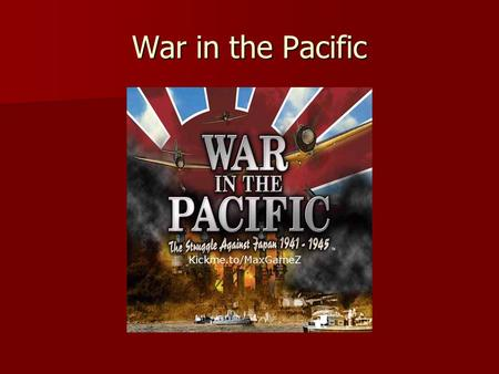 War in the Pacific. Following Pearl Harbor, Japan acquires huge empire.