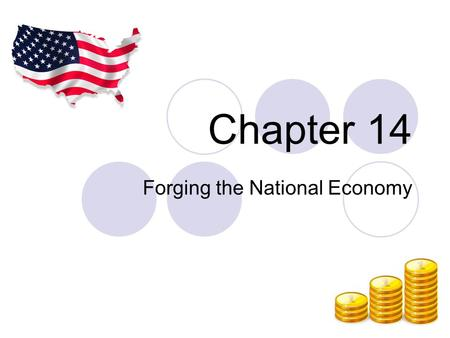 "Chapter 14 Forging the National Economy. The Westward Movement 1840- the ""demographic center"" of American population map crosses the Alleghenies Pioneer."