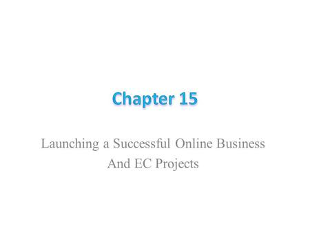Launching a Successful Online Business And EC Projects.