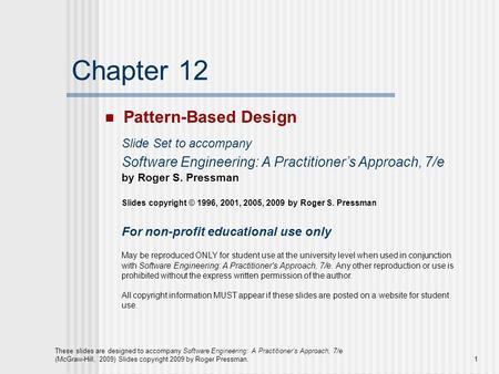 Chapter 16 Pattern Based Design Ppt Download
