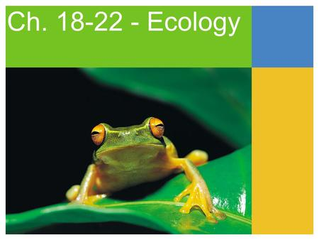 Ch. 18-22 - Ecology.