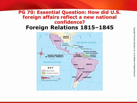 TEKS 8C: Calculate percent composition and empirical and molecular formulas. PG 70: Essential Question: How did U.S. foreign affairs reflect a new national.
