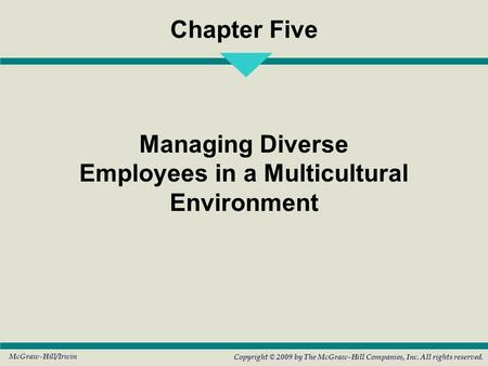 Managing Diverse Employees in a Multicultural Environment