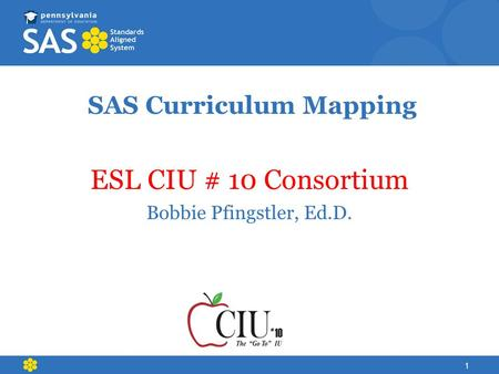 SAS Curriculum Mapping