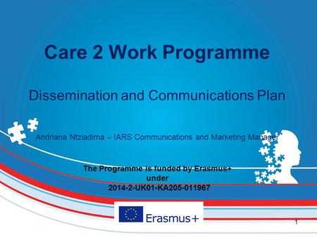 The Programme is funded by Erasmus+ under