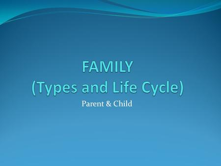 FAMILY (Types and Life Cycle)