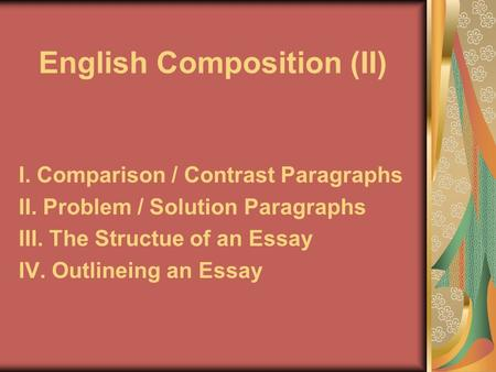 English Composition (II)