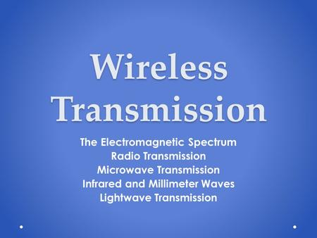 wireless transmission in computer networks pdf