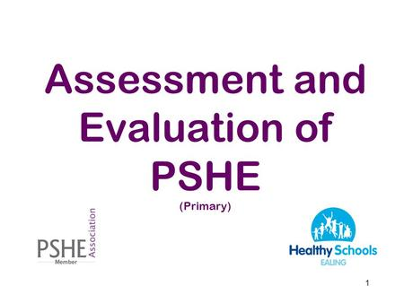 Assessment and Evaluation of PSHE (Primary)