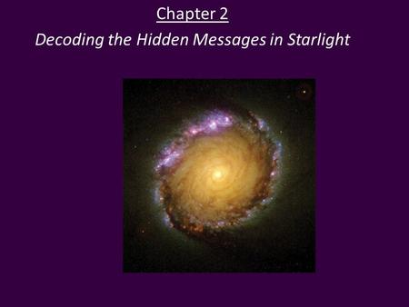 Chapter 2 Decoding the Hidden Messages in Starlight