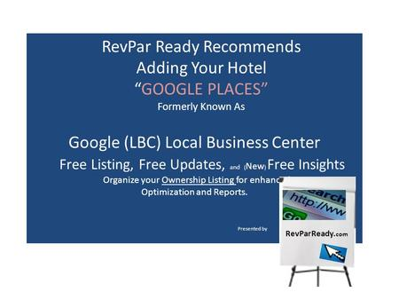Google (LBC) Local Business Center Free Listing, Free Updates, and ( New ) Free Insights Organize your Ownership Listing for enhanced Optimization and.