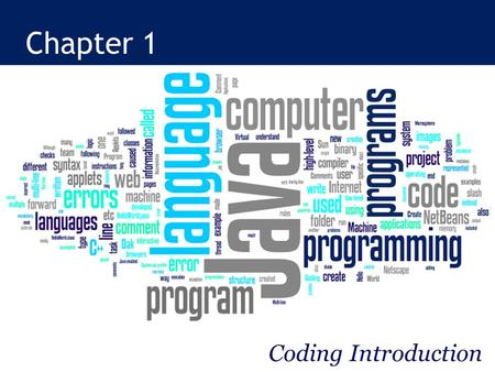 Chapter 1 Coding Introduction.