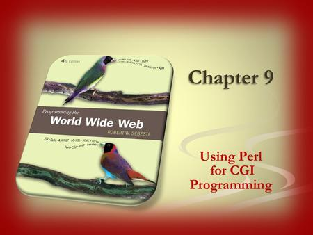 Chapter 9 Using Perl for CGI Programming. Computation is required to support sophisticated web applications Computation can be done by the server or the.
