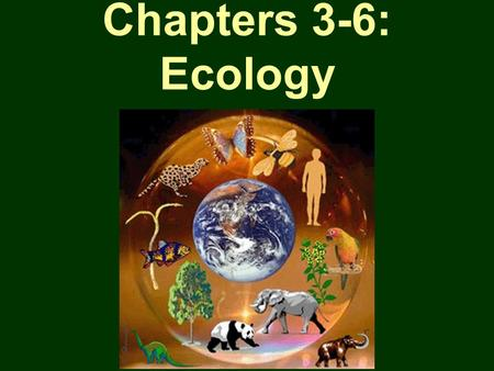Chapters 3-6: Ecology.