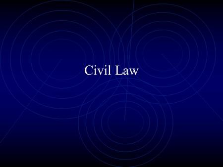 Civil Law. Sources of American Law Constitutional Law – Supreme law of the land, limits government and defines rights Statutory Law – Written by Legislative.