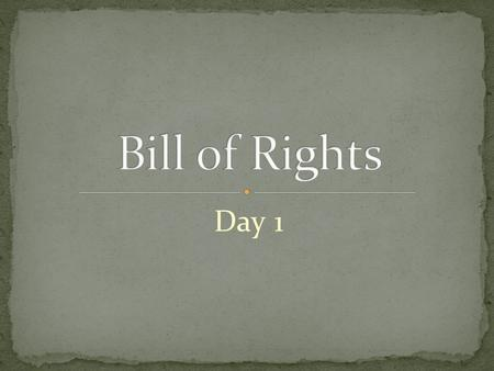 "Day 1. ""Congress shall make no law respecting an establishment of religion, or prohibiting the free exercise thereof; or abridging the freedom of speech,"