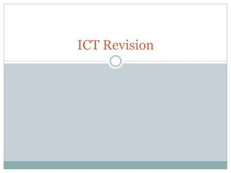 ICT Revision. Database – Data Management The insertion and deletion of fields The insertion and deletion of records Tables to be linked together The editing.