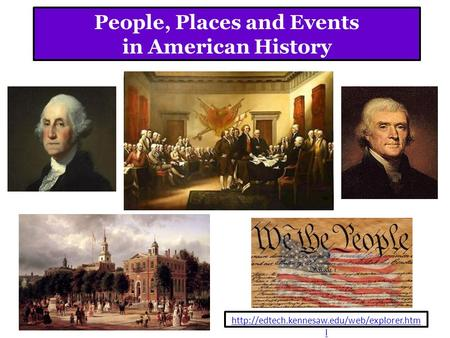 People, Places and Events <strong>in</strong> American History l.
