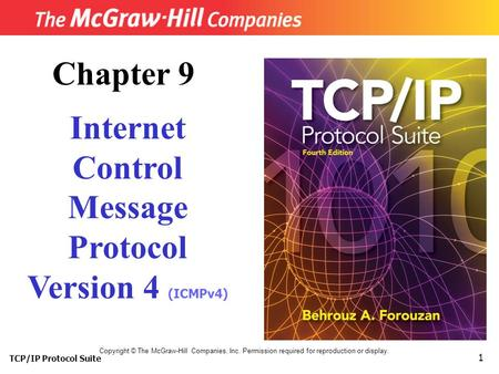 TCP/IP Protocol Suite 1 Copyright © The McGraw-Hill Companies, Inc. Permission required for reproduction or display. Chapter 9 Internet Control Message.