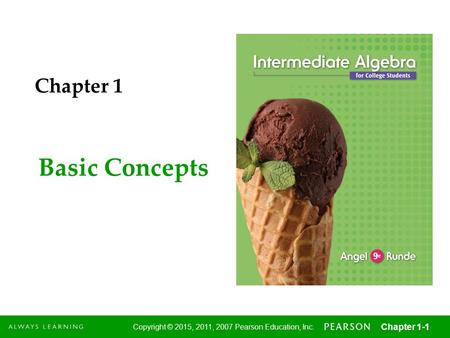 Chapter 1 Basic Concepts.