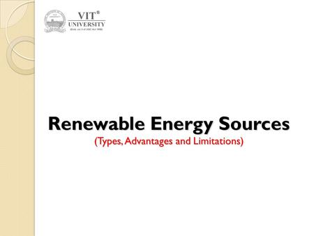 paper presentation on renewable energy sources