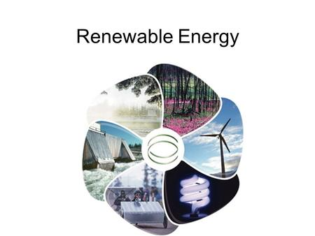 Renewable Energy. Energy An essential part of modern society Need reliable supply The U.S. constitutes less than 5% of the world population, but uses.
