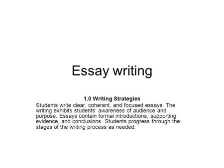 essay writing writing with purpose Formal writing is often used for business and academic work, but considering audience and purpose can help you determine whether formal or informal writing is the appropriate choice.