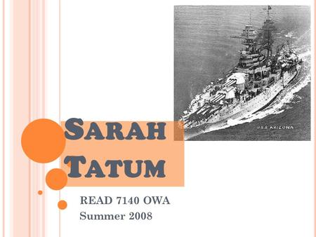 S ARAH T ATUM READ 7140 OWA Summer 2008. N ARRATIVE W RITING 5 TH G RADE Social Studies Japanese Attack on Pearl Harbor.