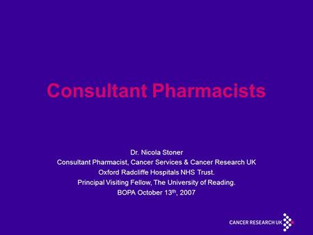 Consultant Pharmacists
