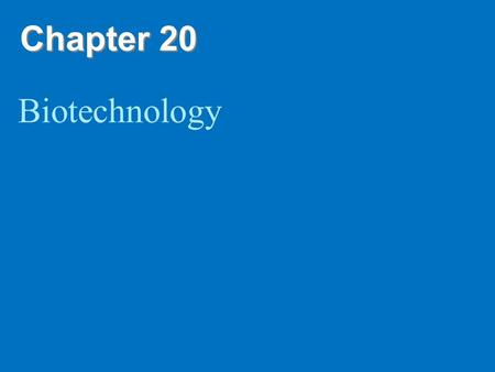 Chapter 20 Biotechnology. Copyright © 2008 Pearson Education Inc., publishing as Pearson Benjamin Cummings Overview: The DNA Toolbox Sequencing of the.