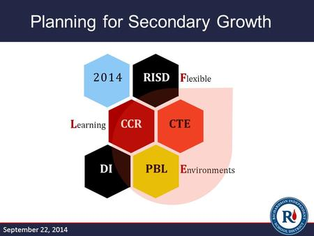 Planning for Secondary Growth DIPBLE nvironments CCRCTEL earning 2014RISDF lexible September 22, 2014.