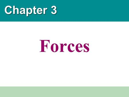 Chapter 3 Forces.