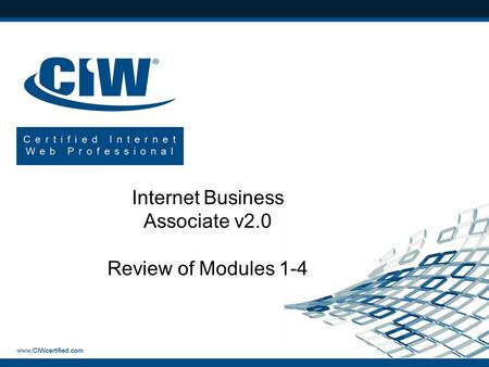 Internet Business Associate v2.0 Review of Modules 1-4