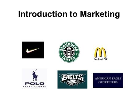 Introduction to Marketing. Marketing: the 5Ps The on-going process of planning and executing the: (1) the product (2) the pricing (3) the promotion (4)