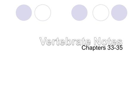 Vertebrate Notes Chapters 33-35.