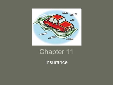 Chapter 11 Insurance. Concept of Insurance $500/year homeowner's policy will pay $1000 house or $500,000 lawsuit –Relatively small amount compared to.