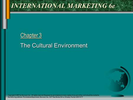 INTERNATIONAL MARKETING 6e