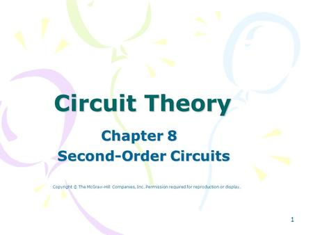 Chapter 8 Second-Order Circuits