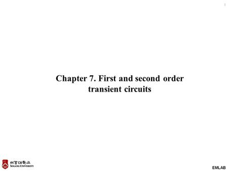 Chapter 7. First and second order transient circuits