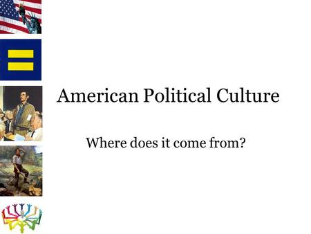 American Political Culture Where does it come from?