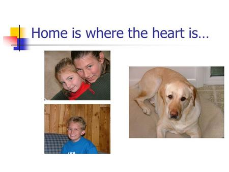 Home is where the heart is…. Nutrition Chapter 7.