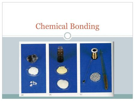 Chemical Bonding. Chemical Forces Hold Atoms Together in Molecules Three types of chemical forces Ionic Bonds – electrons exchanged to form ions Covalent.