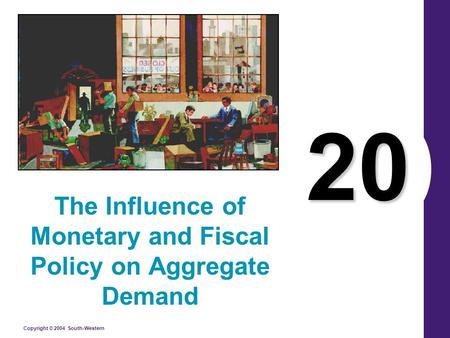 Copyright © 2004 South-Western 20 The Influence of Monetary and Fiscal Policy on Aggregate Demand.