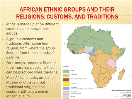 Ethnic Groups And Religious Groups In Africa Ppt Video Online