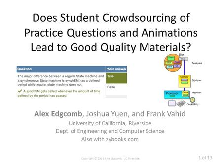Zyante's zyBooks: Animated Interactive Learning - ppt download