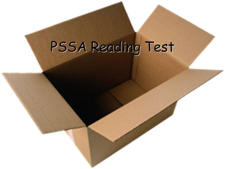 PSSA Reading Test.