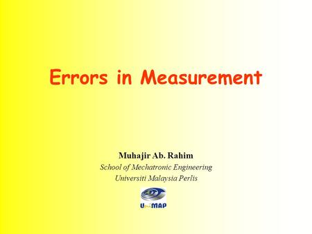Errors in Measurement Muhajir Ab. Rahim